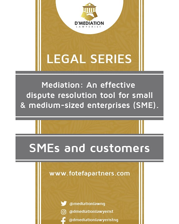 Legal series 2- Mediation: An effective dispute resolution tool for SMEs